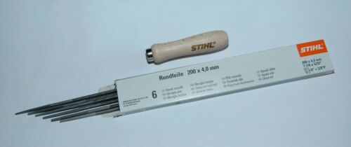 "5605 4006 Stihl Feile Holz Feilenhalter 6 x Rundfeile  1//4/""  3//8/"" Picco  4,0 mm"