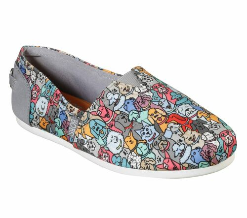 Skechers Bobs Plush Puppies /'Woof Party/' Womens Slip-On Shoes ~ ALL SIZES ~ NIB