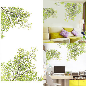 vinyl tr ume garten gr n baum wandtattoo wandaufkleber wandsticker wohnzimmer ebay. Black Bedroom Furniture Sets. Home Design Ideas