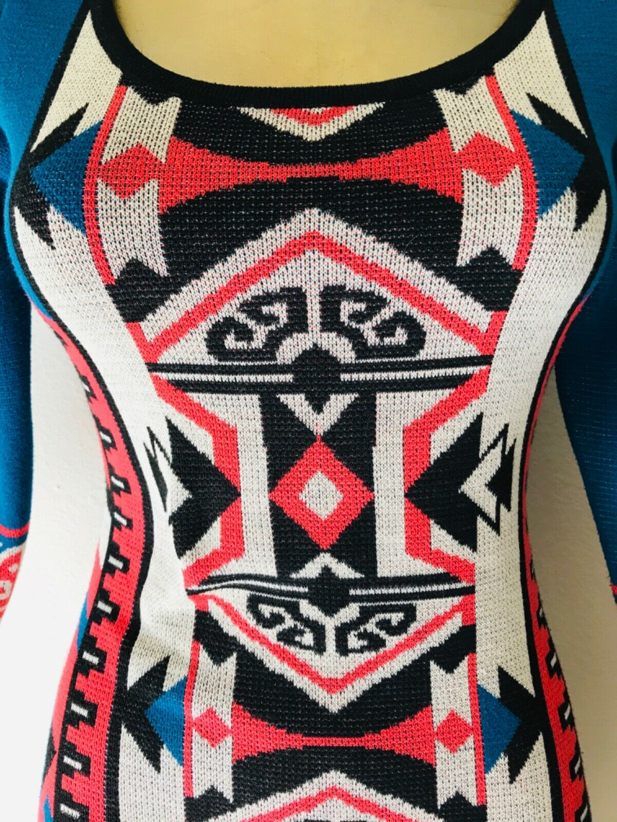 FLYING TOMATO Tribal Print Knit DRESS XS - image 4