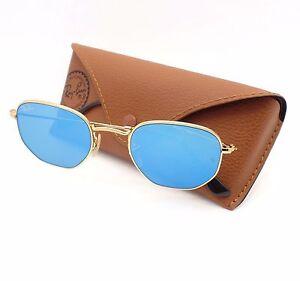 aaba4b45f9 Ray Ban 3548 N 001 9O Shiny Gold Flat Blue Flash Mirror New ...
