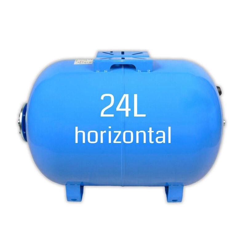 Ballon surpresseur 24 litres horizontal, cuve, réservoir surpresseur