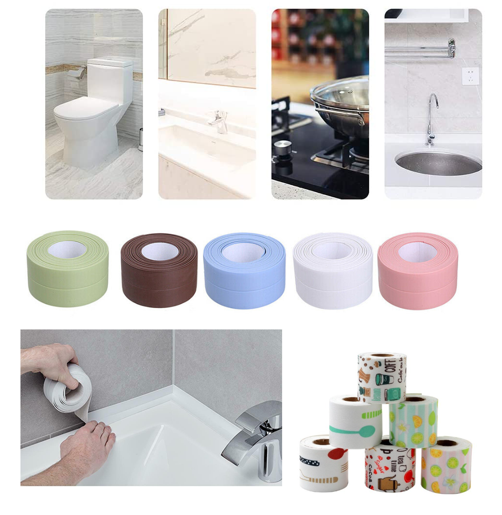 Waterproof Kitchen Bathroom Adhesive PVC Sealing Tape Sink Caulk Strip Corner YN