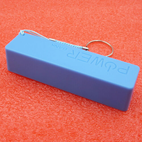 Portable USB Mobile Power Bank Charger Pack Box Battery Case 1 x 18650 DIY blue