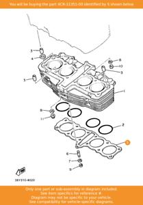 Yamaha FJ1200 4CR-11351-00 Cylinder Base Gasket