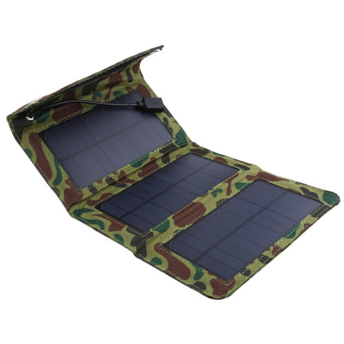 5V 5W Folding Solar Panel USB Camping Portable Battery Charger For Phone SG
