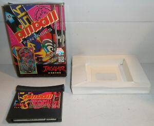 Atari-Jaguar-Game-PINBALL-FANTASIES-Retro-64-Bit-CART-IN-BOX-Vintage-TESTED
