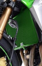 R&G GREEN RADIATOR GUARD for KAWASAKI ZX6-R, 2007 to 2012