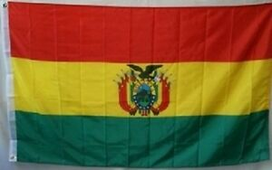 3x5-Embroidered-Sewn-Bolivia-with-Crest-300D-Nylon-Flag-3-039-x5-039-Banner