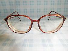Silhouette Tortoise Eyeglasses Eyeglass Sunglasses Frame 80s Librarian Geek Nerd