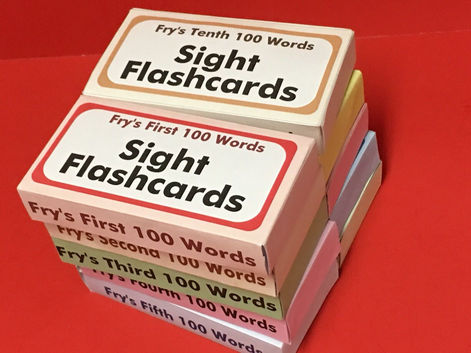 Fry's 1000 Sight Words set - Reading - Fry Sight Word Flash Cards - 1000 cards