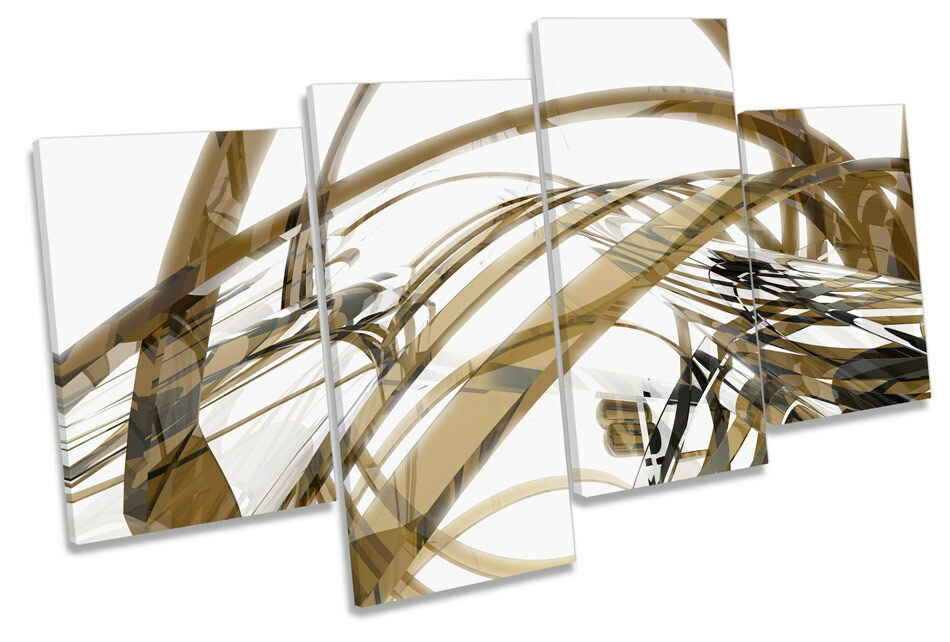 Abstract Glass Design MULTI CANVAS WALL ART Framed Panel