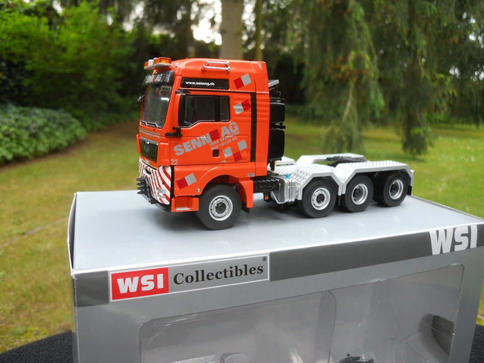 WSI MODELS 01-1084 MAN TGX XXL TRACTOR SOLO 8X6 SENN AG ( CH ) MINT CONDITION
