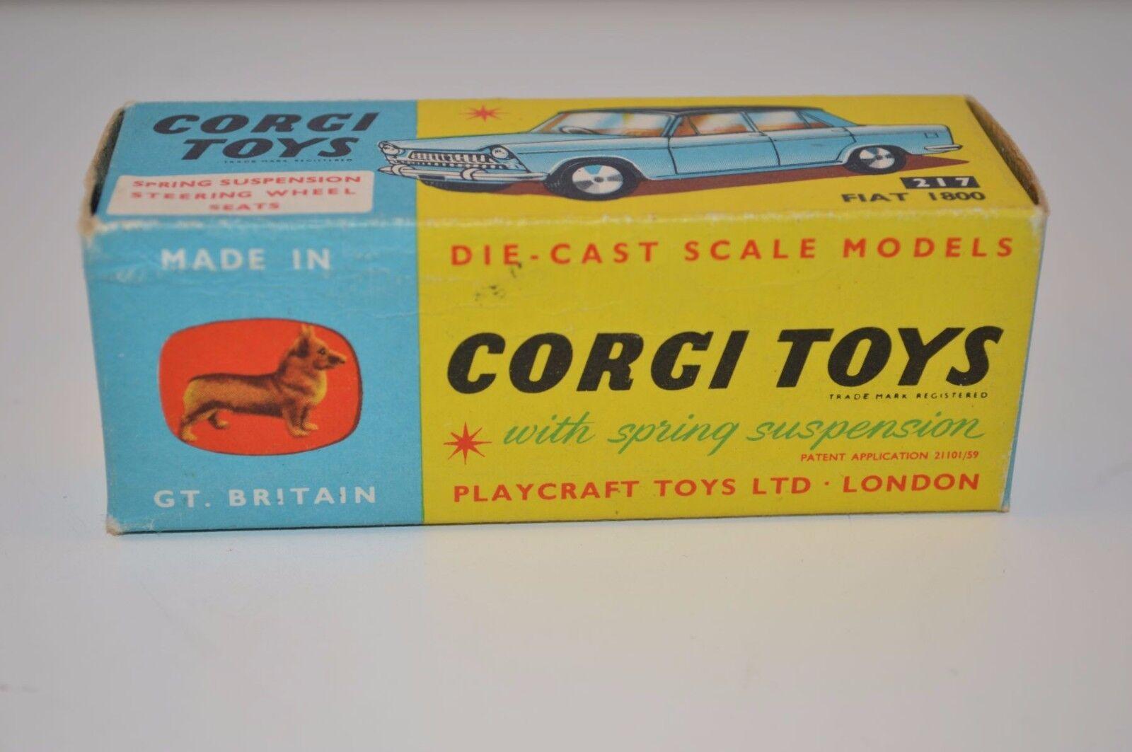 Corgi Toys 217 Fiat 1800 empty near mint complete original original original box 7439a9