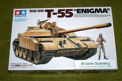 Tamiya 35324 1//35 Scale Military Model Kit Gulf War Iraqi Tank T-55 Enigma