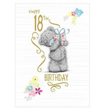 Me To You Happy 18th Birthday Card Bear Cards For 18 Year Old