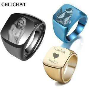Personalized-Customized-Engrave-Name-Photo-Stainless-Titanium-Ring