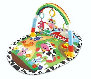 Baby-Gym-Playmat-Colourful-Lay-amp-Play-Animal-Farm-Fun-Play-Mat-With-Sensory-Toys