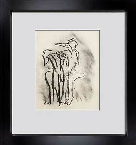 Willem-DE-KOONING-Lithograph-ORIGINAL-Ltd-EDITION-Untitled-1988-w-Frame