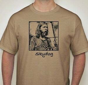 Duane-Allman-Skydog-T-Shirt-w-Les-Paul-Guitar-Rock-Blues-Great-SM-5XLG-name-tan