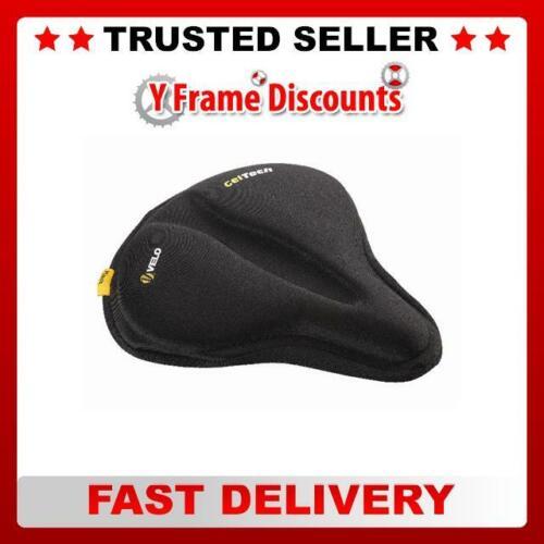 Velo Plush Saddle Cover Black//Grey Unisex 269mm