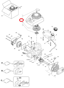 Mountfield HP414 RS100 Motor Retroceso Montaje Repuesto Original 118550693 0