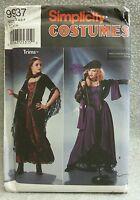 2001 Simplicity 9937 Costume Steampunk Goth Dress Heigl Size 4 6 8 Uncut Pattern