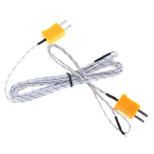 1pc K Typ Temperatur Sensor Thermoelement-Sonde Kabeldraht 0,5 4m HK