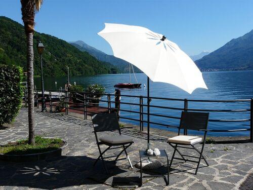 Maffei Sonnenschirm Bea Art.27 Ecru Polyester Winddicht D.200 CM made in Italy