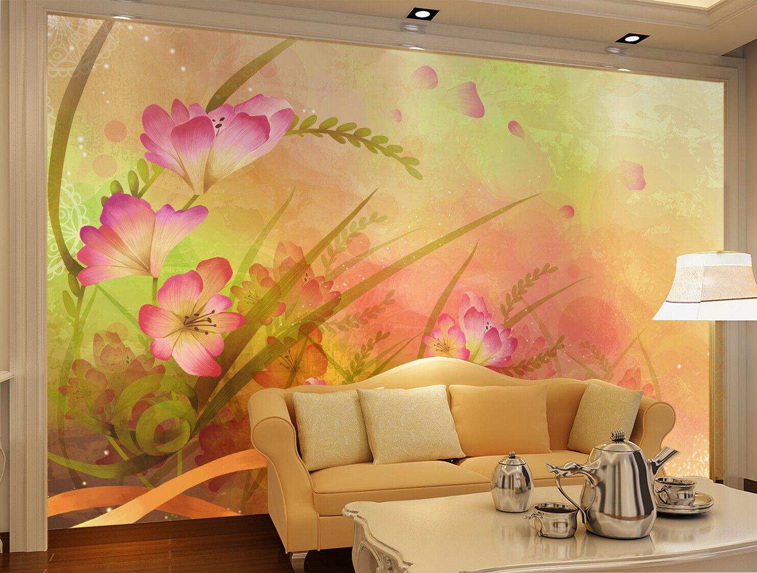 3D Ölgemälde Blüten Blätter 993 Tapete Wandgemälde Tapeten Bild Familie DE Jenny