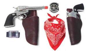 Kids marshal of Drango Western Toy Gun Holster Set w/ Belt & Bandana