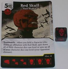 """RED SKULL """"HAIL HYDRA"""" 125/142 Age Of Ultron Dice Masters Rare"""