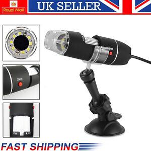 1000X Zoom 8 LED USB Microscope Digital Magnifier Endoscope Camera Video W/St Jv 651421914966