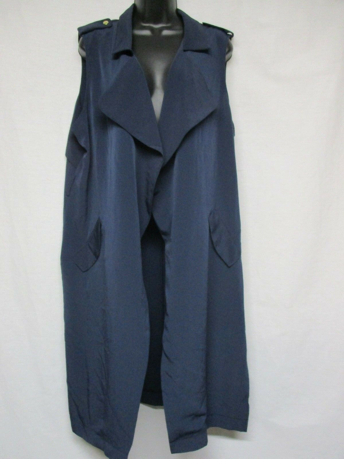 SIMPLY STYLED by Sears Navy Open Drape Sleeveless Dress Size XL   U7