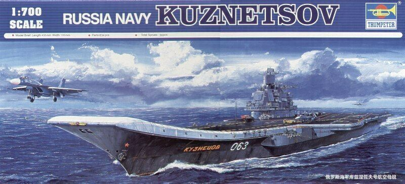 Trumpeter 1 700 Russo blue Navy Admiral Kuznetsov Portaerei