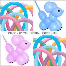 "25ct. VIBRANT 160Q Balloon Animals Twister Latex Balloons 60"" PINK BLUE PURPLE"