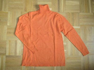 Umstandsmode Rollkragen Pullover Strickpulli Orange Gr. 34 36 Erfrischung