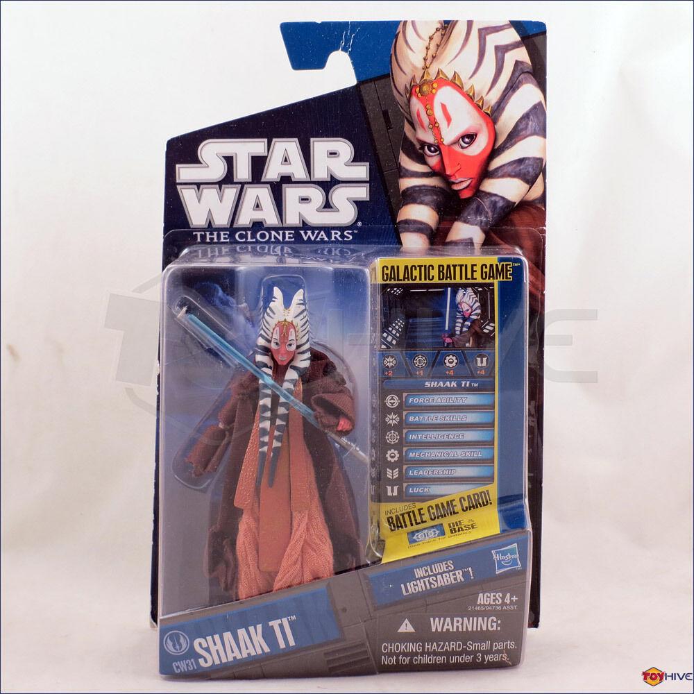 Star Wars Clone Wars 2010 Jedi Master Shaak Ti CW31 - figure battle card - worn