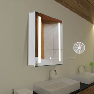 Image Is Loading Anti Fog Mirror Cabinet Bathroom Wall Unit With