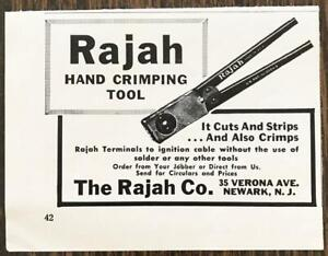 1961-Rajah-Hand-Crimping-Tool-PRINT-AD-It-Cuts-amp-Strips-amp-Also-Crimps