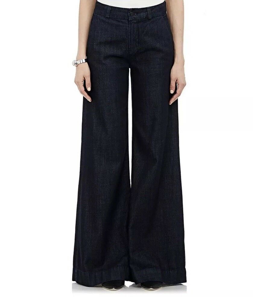 J Brand Melody Wide Leg Jeans Royal Size 24 New With Tags Flare
