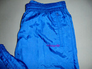 90er Jahre Adidas Nylon Glanz Hose Trainingshose jogger shiny oldschool D6 M
