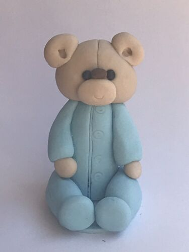 Christening Baby Shower Cake Decoration Birthday Teddy Bear Cake Topper