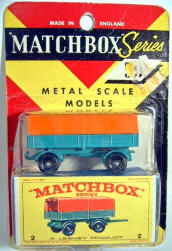 MatchBox RW 02D Mercedes Trailer BlisterVerpackungung  E  Box