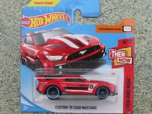 Hot-Wheels-2018-096-365-CUSTOM-2015-FORD-MUSTANG-red-HW-Then-and-now