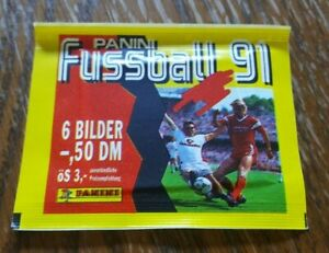 Panini-Championnat-1991-1-Sac-Packet-Pack-Bustina-Buli-91