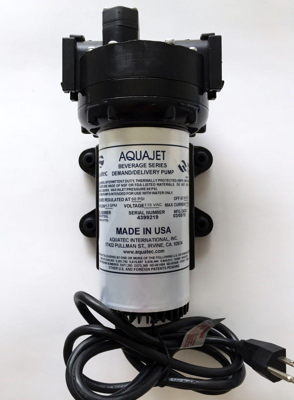 AQUATEC Osmose Inverse Vitesse Variable Pompe 115VAC 5501-IEN2-V77D