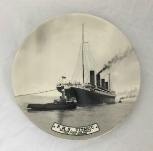 White-Star-Line-RMS-Titanic-Belfast-Lough-Sea-Trials-Bone-China-Plate-20cm-New