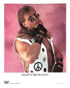WWE-SHAWN-MICHAELS-P-212-OFFICIAL-LICENSED-AUTHENTIC-8X10-ORIGINAL-PROMO-PHOTO