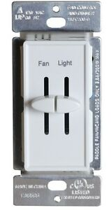 Dual Slide Variable Ceiling Fan Speed Control Amp Light
